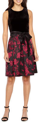 R & K Originals Sleeveless Velvet Top Party Dress
