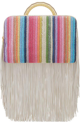 The Volon Rainbow Fringe Bon Bon Clutch Bag