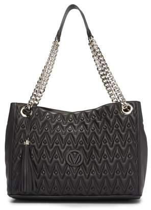 Mario Valentino Valentino By Verra Diamond Quilt Leather Tote
