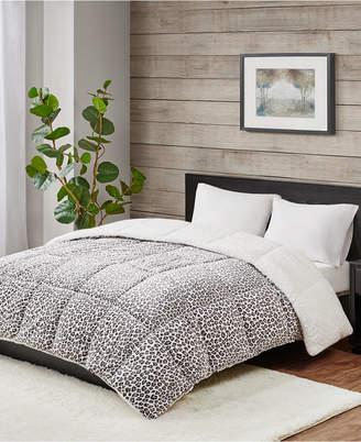 Premier Comfort Reversible Micro Velvet and Sherpa Down Alternative Full/Queen Comforter, Hypoallergenic