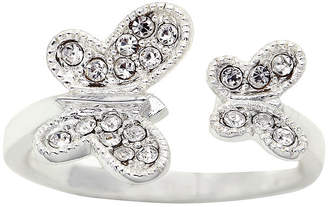 JCPenney THE SKINNY the skinny Crystal Double Butterfly Ring