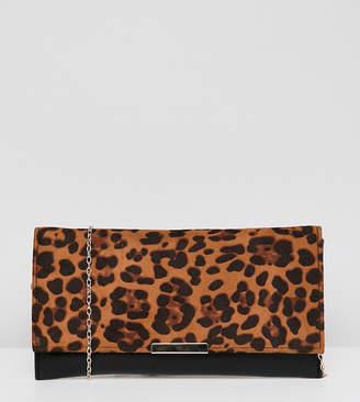 Accessorize Kelly leopard print clutch bag