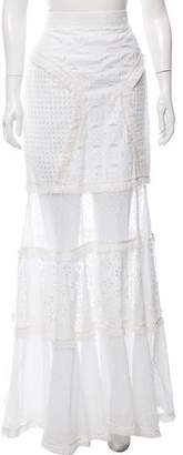 Andrew Gn Broderie Anglaise Maxi Skirt