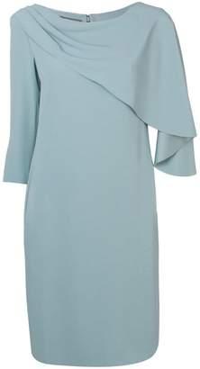 Alberta Ferretti cape front dress