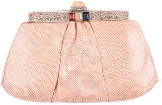 Judith Leiber Pleated Karung Clutch $245 thestylecure.com