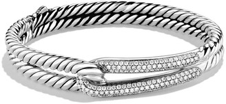 David Yurman 'Labyrinth' Single-Loop Bracelet with Diamonds