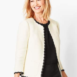 Talbots Cotton Tweed Scallop-Edge Jacket