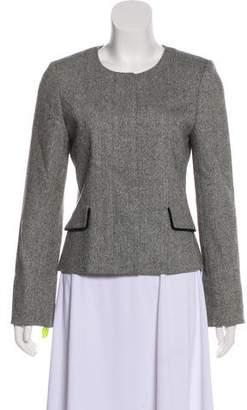 Cartier Long Sleeve Wool & Silk-Blend Blazer