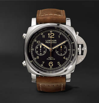 Panerai Officine Luminor 1950 Pcyc 3 Days Chrono Flyback Automatic Acciaio 44mm Stainless Steel And Assolutamente Leather Watch