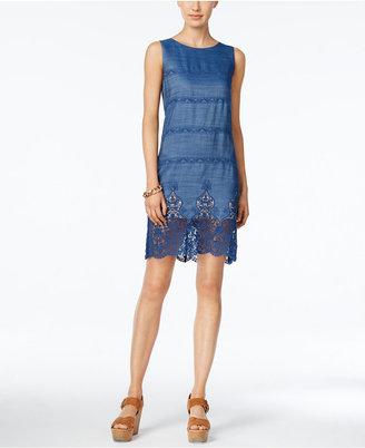 Tommy Hilfiger Denim Lace Sheath Dress $134 thestylecure.com