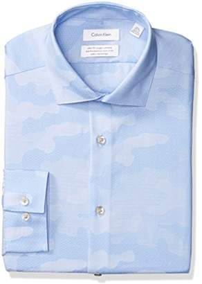 Calvin Klein Steel Men's Non Iron Slim Fit Dress Shirt