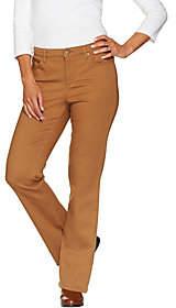 Denim & Co. Reg 5 Pocket Colored Denim SlightlyBootcut Jeans