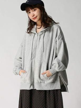 WEGO (ウィゴー) - BROWNY STANDARD BROWNY STANDARD/(L)ルーズスリットジップパーカ ウィゴー カットソー