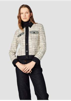 Derek Lam 10 Crosby Jacket With Denim Contrast