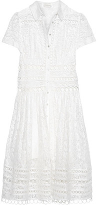 Zimmermann - Winsome Cotton-blend Lace Midi Dress - Ivory $2,600 thestylecure.com