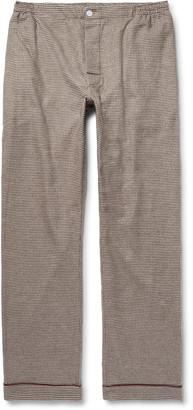 Sleepy Jones + David Coggins Houndstooth Cotton-Flannel Pyjama Trousers $140 thestylecure.com
