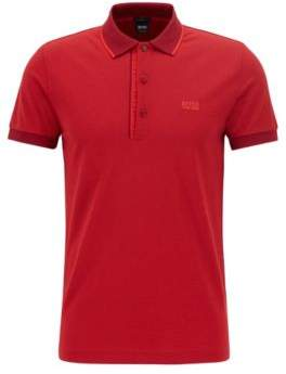 BOSS Hugo Slim-fit logo polo shirt in cotton pique XXXL Dark Red