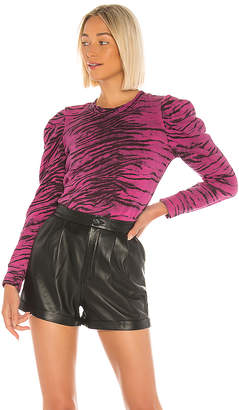 Pam & Gela Tiger Puff Sleeve Sweatshirt