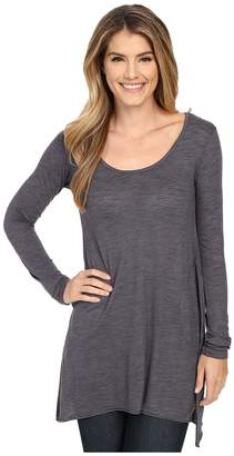 Allen Allen L/S Angled 2-Pocket Scoop Tunic Women's Long Sleeve Pullover