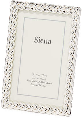 """Tizo Silver-Plated Braid Picture Frame, 4"""" x 6"""""""