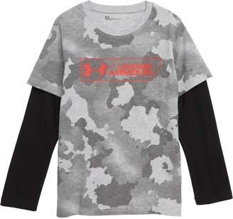 Under Armour Camo Logo Layered T-Shirt