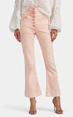 Ulla Johnson Women's Ellis Crop Flared Jeans - Pink