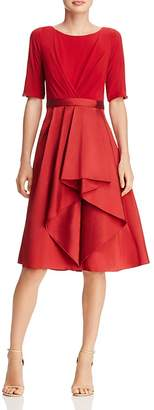Adrianna Papell Taffeta-Skirt Dress