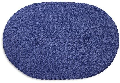 Sur La Table Navy Oval Braided Placemat