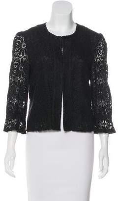 Trina Turk Lace Collarless Jacket