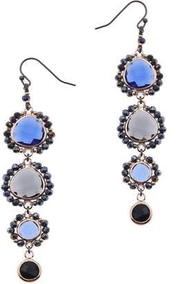Nakamol Design Stone Linear Drop Earrings