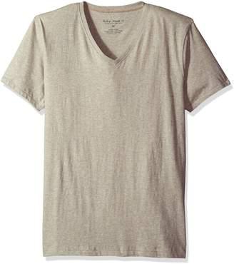 Nudie Jeans Men's V-Neck Tee Shirt, Grey Melange
