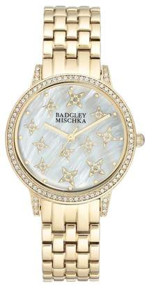 Badgley Mischka Women's Swarovski Crystal Accented Analog Bracelet Watch, 36mm
