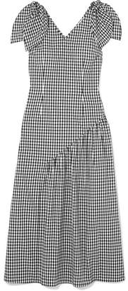 DAY Birger et Mikkelsen REJINA PYO - Lily Bow-embellished Gingham Cotton Midi Dress - Black