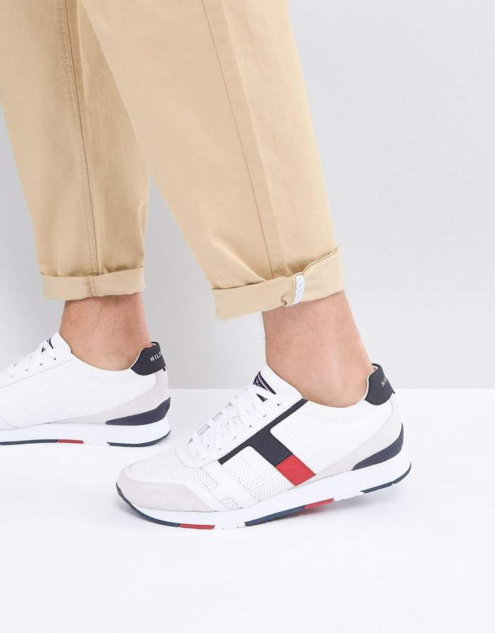 Tommy Hilfiger Leeds Leather Sneakers In White