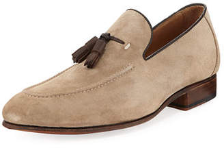 Donald J Pliner Men's Suede Leather-Tassel Slip-On