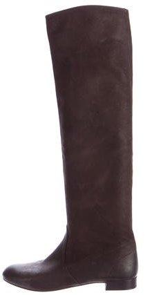 pradaPrada Leather Over-The-Knee Boots