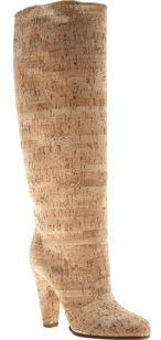 Martin Margiela Cork Knee Boot- Neutral