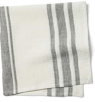 Pom Pom at Home Set of 4 Bistro Stripe Dinner Napkins - Off-White/Gray