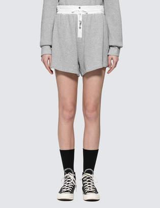 Alexander Wang Heavy Waffle High Waist Shorts