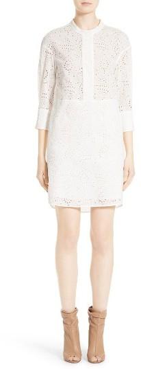 Women's Burberry Daniela Eyelet Shirtdress