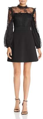 Aqua Lace Inset Ruffle Dress - 100% Exclusive