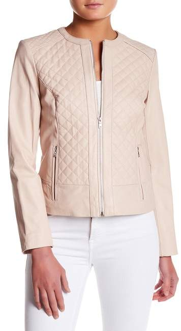 Cole Haan Cole Haan Quilted Genuine Leather Jacket