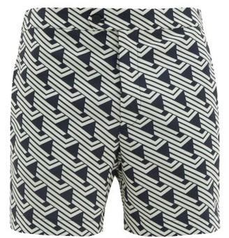 Odyssee - Valbonne Striped Swim Shorts - Mens - Navy Multi