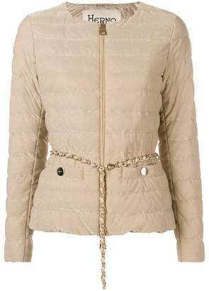 Herno belted padded jacket