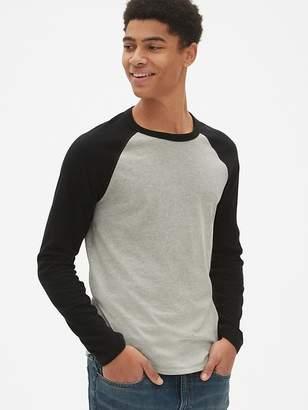 Gap Soft Brushed Raglan Crewneck T-Shirt