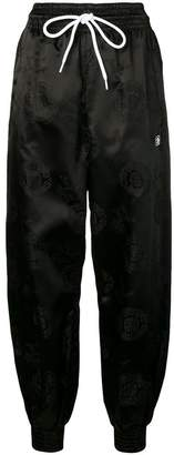 Alexander Wang embroidered balloon track trousers