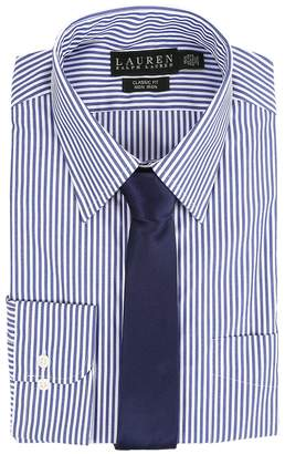 Lauren Ralph Lauren Bengal Stripe Spread Collar Classic Button Down Shirt Men's Long Sleeve Button Up