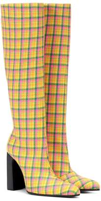 Balenciaga Plaid boots