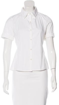 LAMB Short Sleeve Button-Up Top $65 thestylecure.com