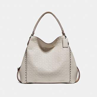 Coach Edie Shoulder Bag 42 In Signature Leather With Border Rivets
